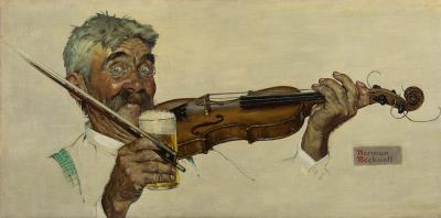 Norman Rockwell The Fiddler