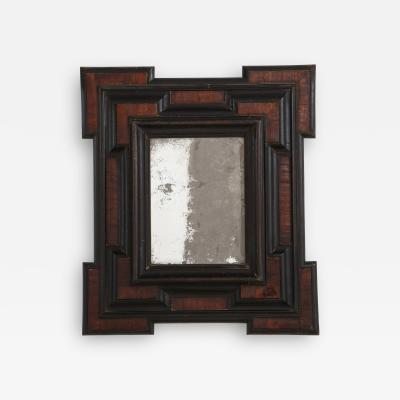 Northern Italian Baroque Walnut and Ebonized Mirror