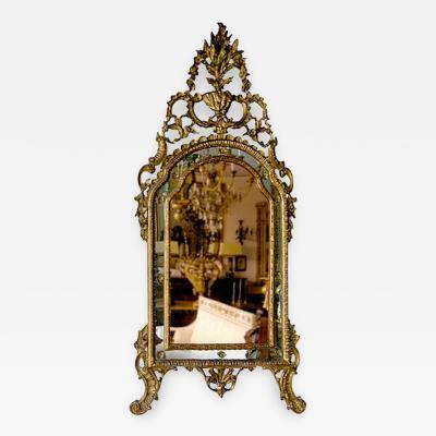 Northern Italian Rococo Giltwood mirror