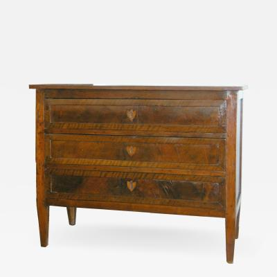 Northern Italian Walnut commode 19th c