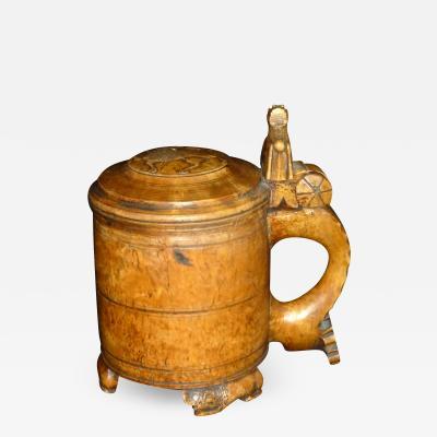 Norwegian 18th century Burl Tankard