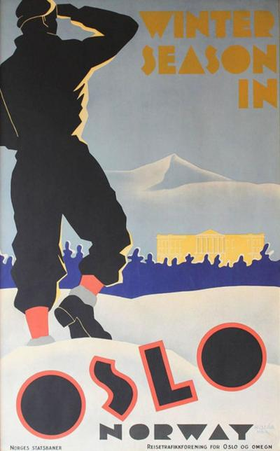 Norwegian Ski Poster