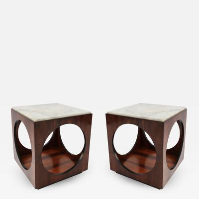 Novo Rumo Pair of Novo Rumo Brazilian 1960s Jacaranda Side Tables