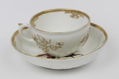 Nymphenburg Porcelain Manufactory An 18th Century Nymphenburg Cup and Saucer Ferner Workshop