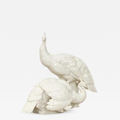 Nymphenburg Porcelain Manufactory Circa 20th Century Nymphenburg Peafowl West Germany
