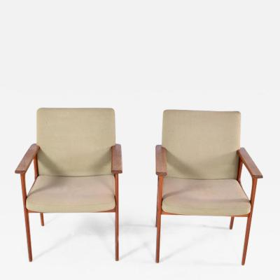 O D Mobler Midcentury Pair of Teak Armchairs by O D M bler 1960s