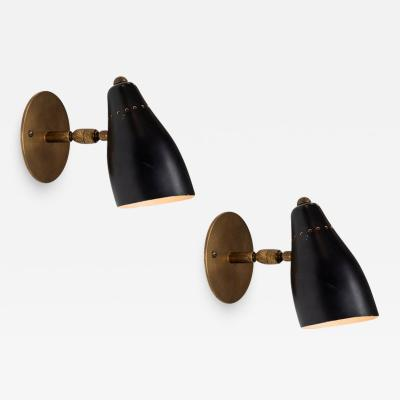 O Luce 1950s Giuseppe Ostuni Articulating Sconces for O Luce