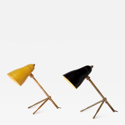 O Luce Pair of 1950s Giuseppe Ostuni Ochetta Wall or Table Lamps for O Luce