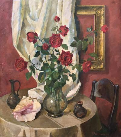 O M Rechetnikov Red Roses