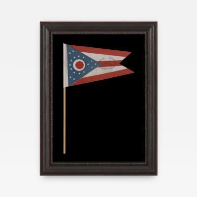 OHIO STATE FLAG WITH CIVIL WAR VETERANS