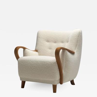 Oak Danish Cabinetmaker Easy Chair Denmark ca 1950s