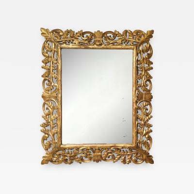 Oak Tree Baroque Style Gilt Wood Mirror