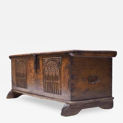 Oak chest 18th century France Haut Savoie 1850s