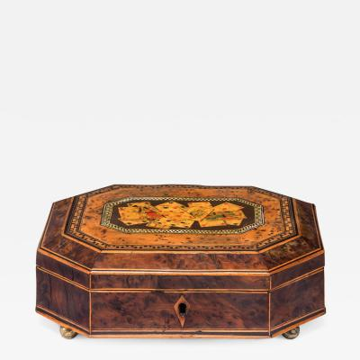Octagonal Box with Playing Cards