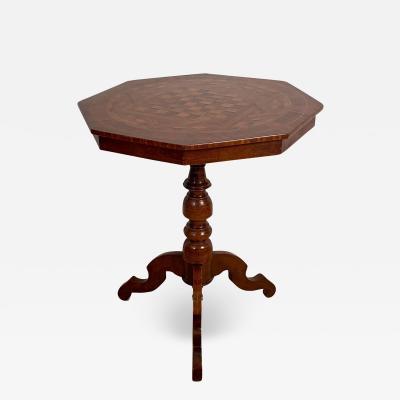 Octagonal Italian Game Table Italy Circa 19th Century