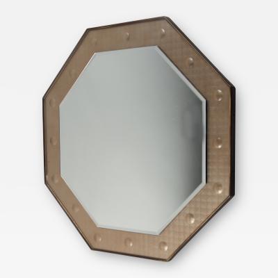 Octagonal Mirror Italy ca 1950