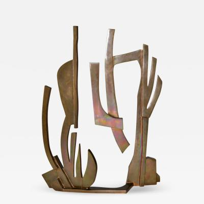 Oded Halahmy Large Modern Abstract Bronze Sculpture by Oded Halahmy New York 1977