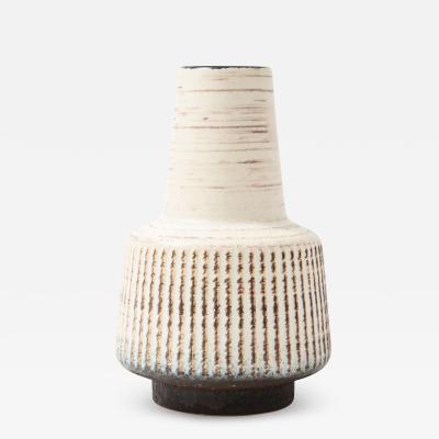 Off White Mid Century Scandinavian Vase 1950s