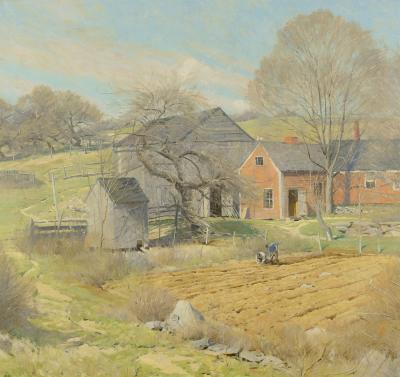 Ogden Pleissner Red House Rindge NH