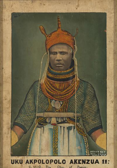 Ogho of Ozoro Portait of Uku Akolopolo Akenzua II Oba of Benin 1933 1978