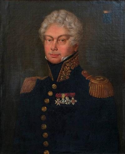 Oil on Canvas Portrait of Jean Ren de CHAPPEDELAINE Viscount