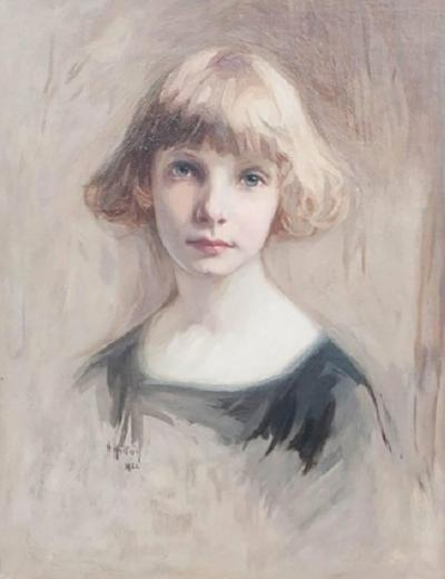 Oil on Canvas Young Girl
