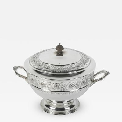 Old English Silver Plate Sheffield Covered Tureen