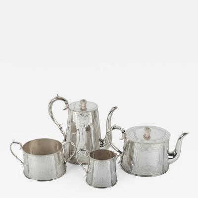 Old English Silver Plate Tea Coffee Service