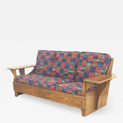 Old Hickory Mission Plaid Settee