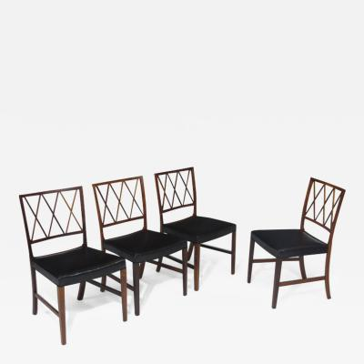 Ole Wanscher 6 Ole Wanscher for AJ Iversen Rosewood Dining Chairs