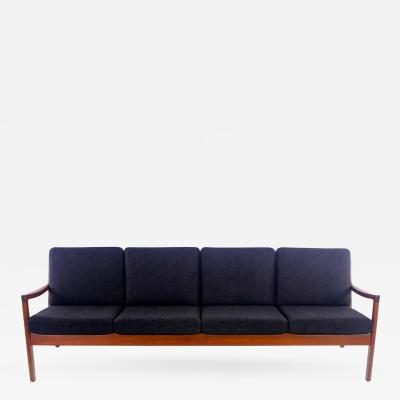 Ole Wanscher Classic Danish Modern Teak Framed Sofa Designed by Ole Wanscher