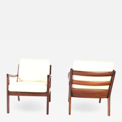 Ole Wanscher Midcentury Mahogany Ole Wanscher Easy Chairs 1960s