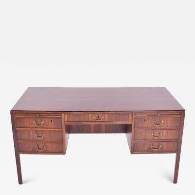 Ole Wanscher Midcentury Rosewood Desk by Ole Wanscher for AJ Iversen 1950s