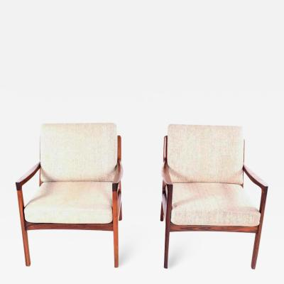 Ole Wanscher Midcentury Rosewood Ole Wanscher Easy Chairs 1960s