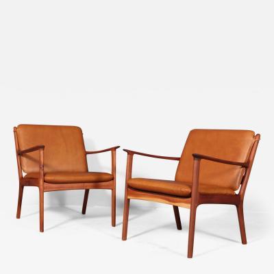Ole Wanscher Ole Wanscher Armchair model PJ112 Aniline leather