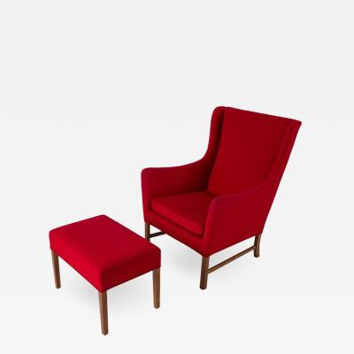 Ole Wanscher Ole Wanscher Lounge Chair and Stool