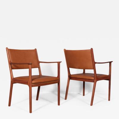 Ole Wanscher Ole Wanscher Mahogany armchair model PJ 412 Aniline leather