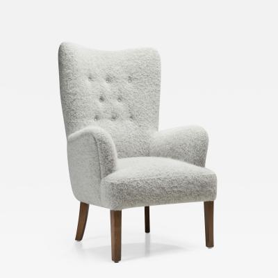 Ole Wanscher Ole Wanscher Model 1673 High Back Chair for Fritz Hansen Denmark 1940s