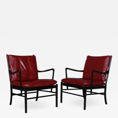 Ole Wanscher Ole Wanscher Pair of armchair Colonial chair model PJ 149 2