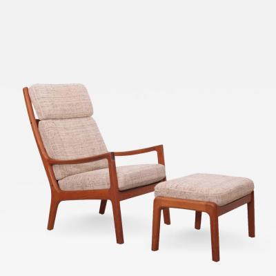 Ole Wanscher Ole Wanscher Senator Highjack Lounge Chair and Ottoman by Cado