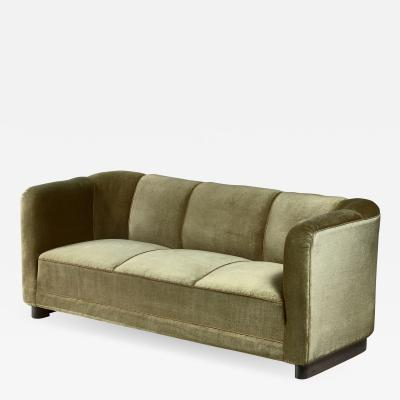 Ole Wanscher Ole Wanscher green velour sofa for Fritz Hansen Denmark