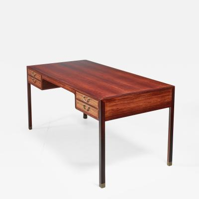 Ole Wanscher Ole Wanscher rosewood and brass desk Denmark 1950s