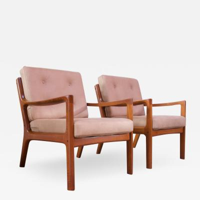 Ole Wanscher Pair of Ole Wanscher for France and Son Senator Chairs in Teak