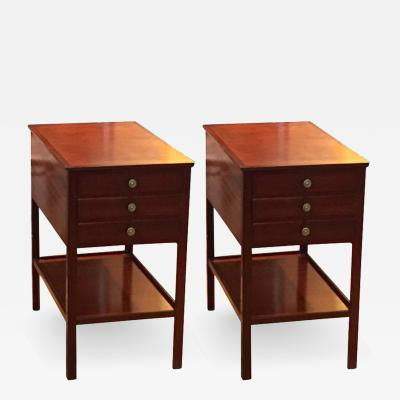 Ole Wanscher Rare Pair of Ole Wanscher End Tables for AJ Iversen