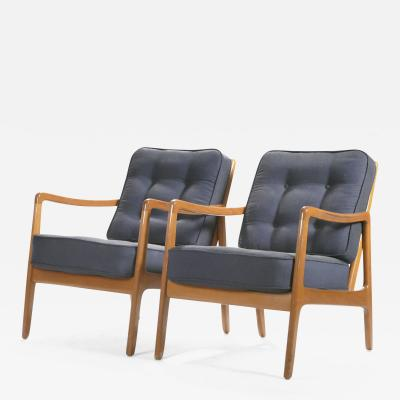 Ole Wanscher Scandinavian pair of Ole Wanscher FD109 armchairs 1960s