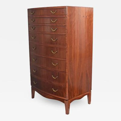 Ole Wanscher Walnut Tall Chest of Drawers by Ole Wanscher