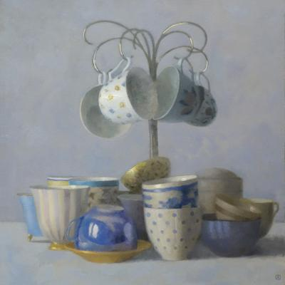 Olga Antonova Four Teacups Hanging