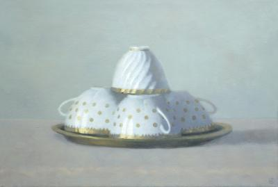 Olga Antonova Four White Gold Teacups