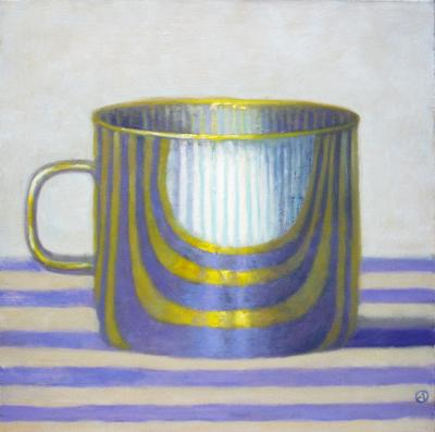 Olga Antonova Gold Cup on Purple Stripes