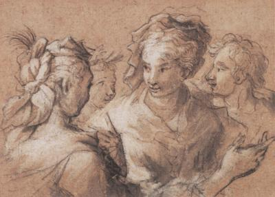 Oliver Isaac A Study of Women Conversing
